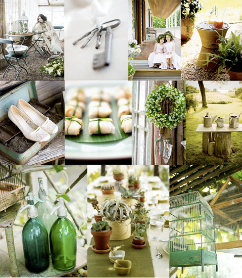 Garden Themed Wedding: Kiss The Bride: Inspiration Board: {Garden Green}