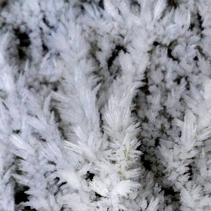 frost crystals, hoar frost