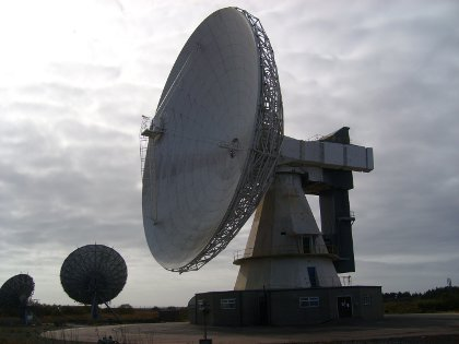 the Arthur satellite dish at Goonhilly in Cornwall