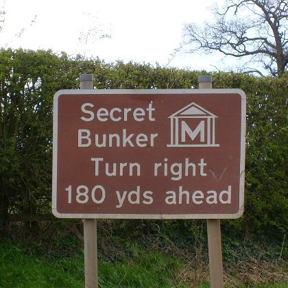 secret bunker, turn right 180 yards ahead