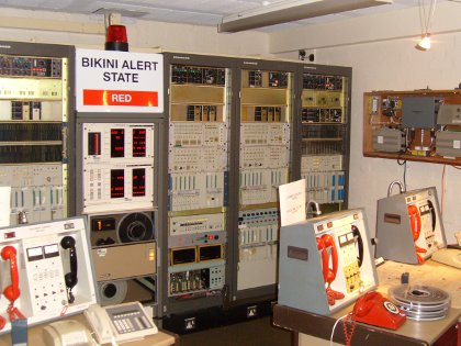 control room of the nuclear bunker