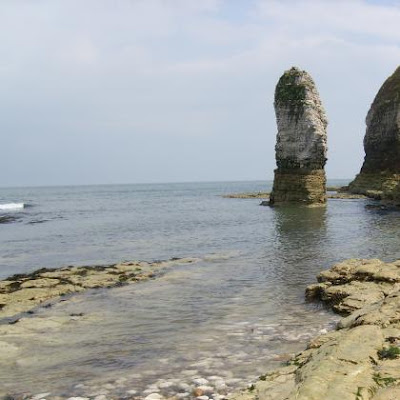 chalk stack in the sea at Flamborough Head