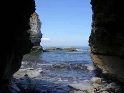 sea cave, north landings, flamborough, yorkshire
