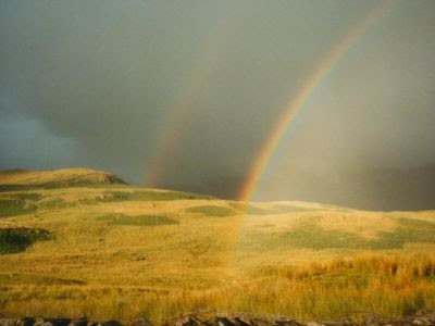 double rainbow in Cumbria