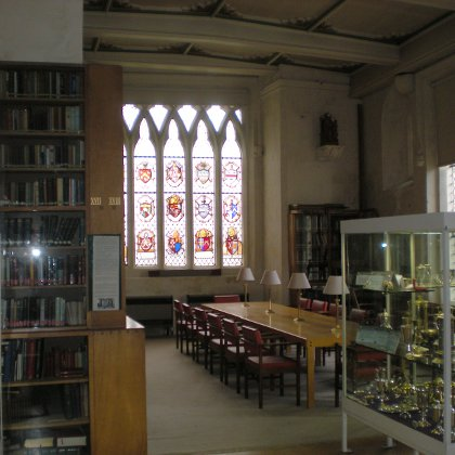 the library at Ripon Cathedral