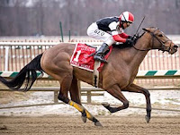 Royale Michele in the 2009 Barbara Fritchie Handicap - Photo: Maryland Jockey Club, Jim McCue