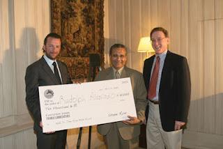 Rudolph Alvarado wins the Dr. Tony Ryan Book Award, courtesy of Thoroughbred Times