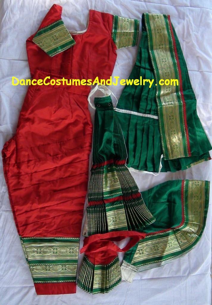 Indian Jewelry: Bharatanatyam dance dress color selections