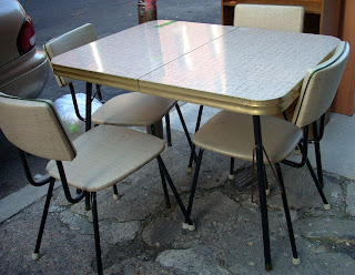Uhuru Furniture & Collectibles: Retro 60's Kitchen Table & 4 Chairs on chairs from the 60s, retro kitchen pantry cupboard, furniture from the 60s, g plan furniture 60s, old furniture 60s, victorian furniture 60s, dream homes of the 50s and 60s, vintage 60s, retro chairs,