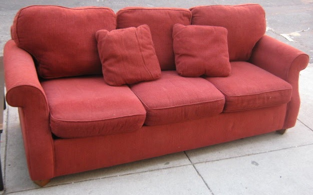 uhuru furniture collectibles big red couch sold. Black Bedroom Furniture Sets. Home Design Ideas