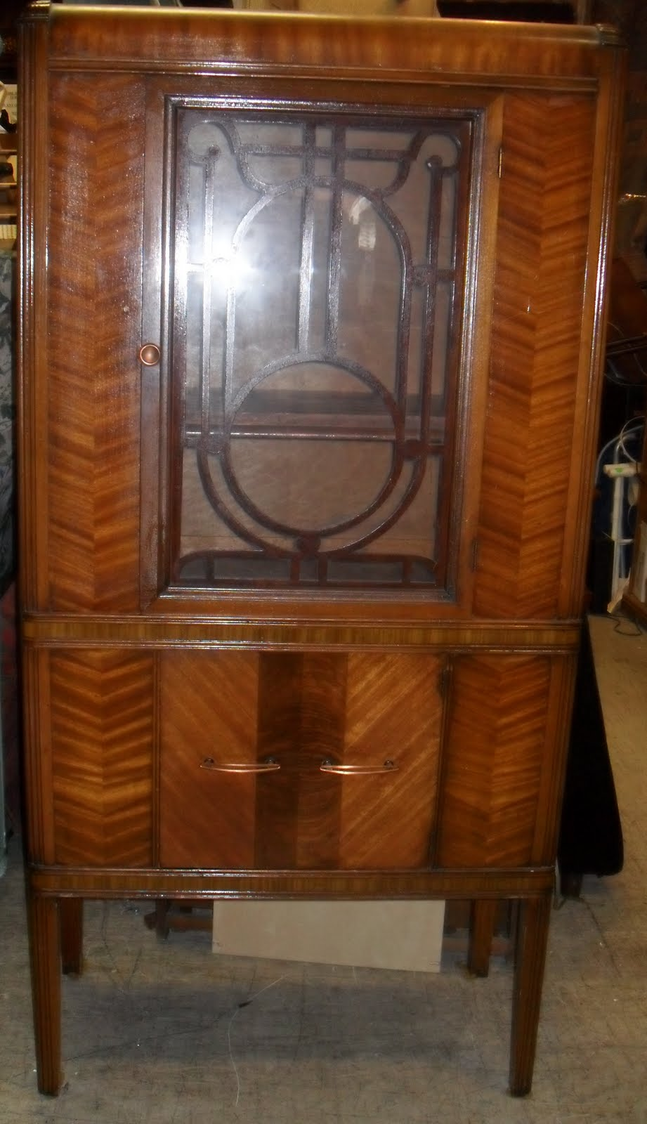 Uhuru Furniture & Collectibles: Waterfall Buffet and China Cabinet ...