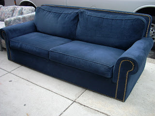 Extra Comfy   Large Midnight Blue Sofa/ Couch   SOLD!