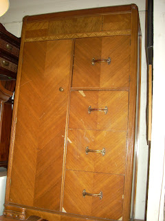 Uhuru Furniture Collectibles Art Deco Waterfall Chiffarobe Armoire