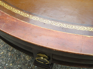 This Coffee Table May Cost You Mega Bucks In An Antique Shop But Weu0027re  Letting It Go For $45. 3u0027 Diameter, In Good Condition. Gold Leaf Trim.