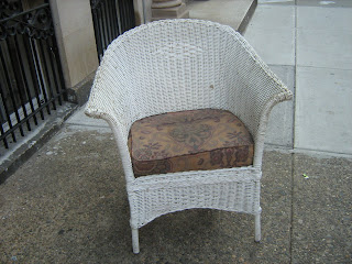Uhuru Furniture & Collectibles Antique wicker chair SOLD