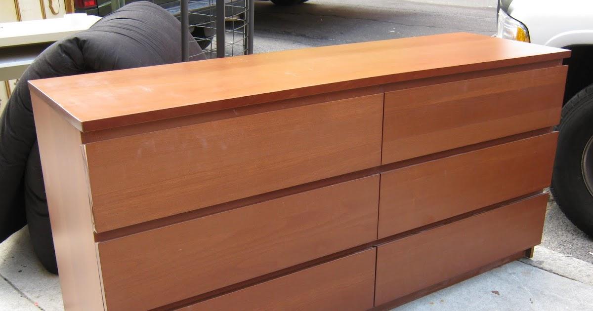 Uhuru furniture collectibles ikea malm 6 drawer dresser sold - Malm frisiertisch weiay ...