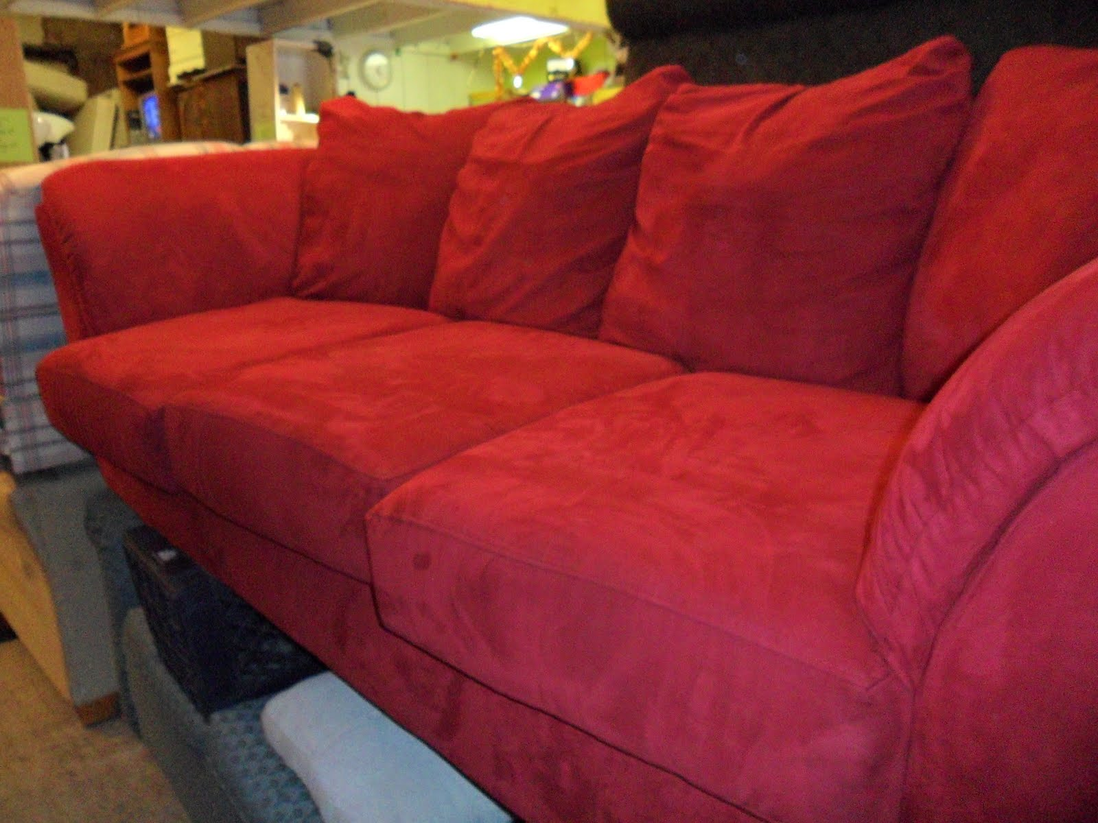 New Red Microfiber sofa Interior Design and Home Inspiration