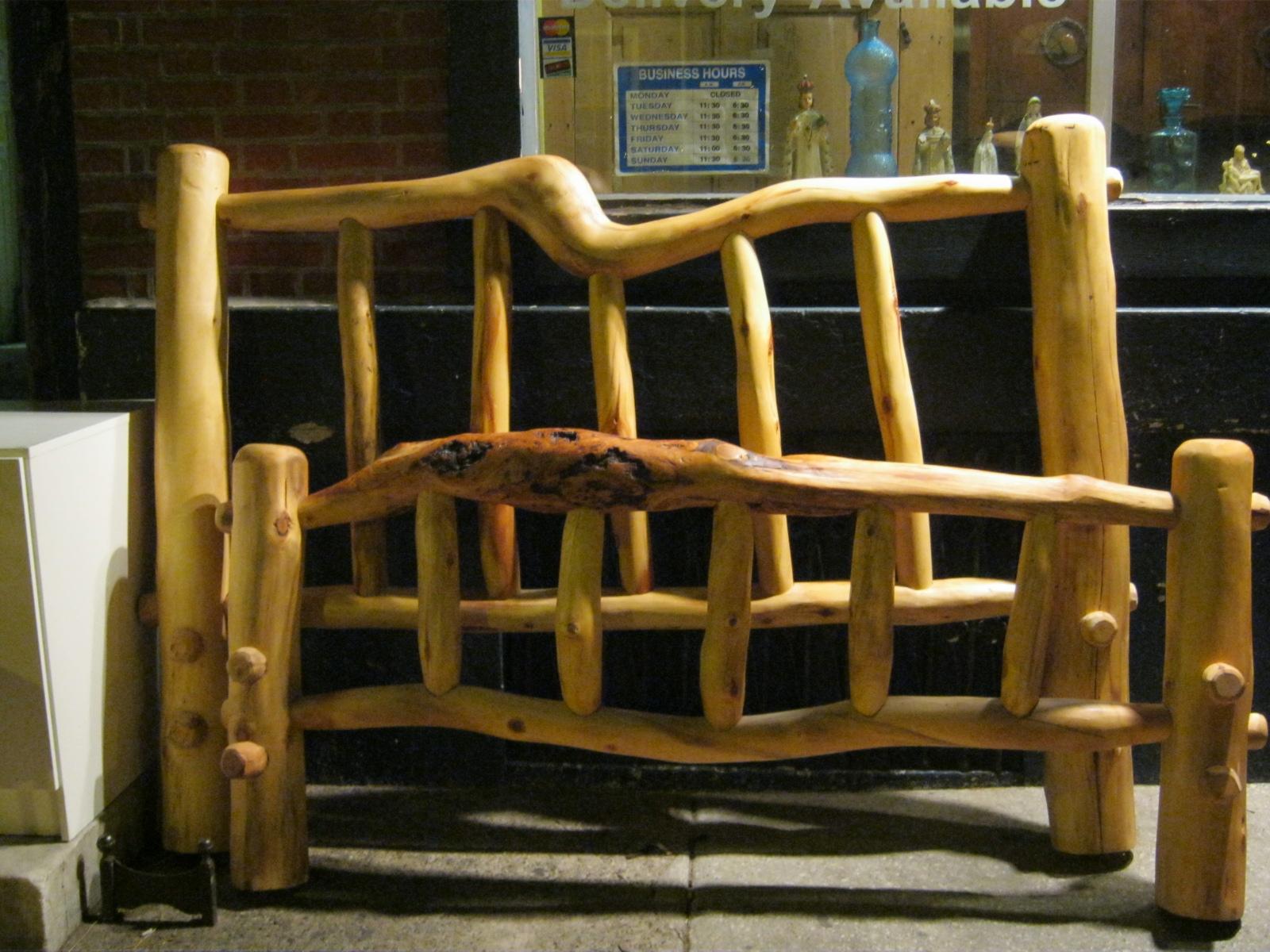 Fred Flintstone Rustic Aspenwood Bed SOLD