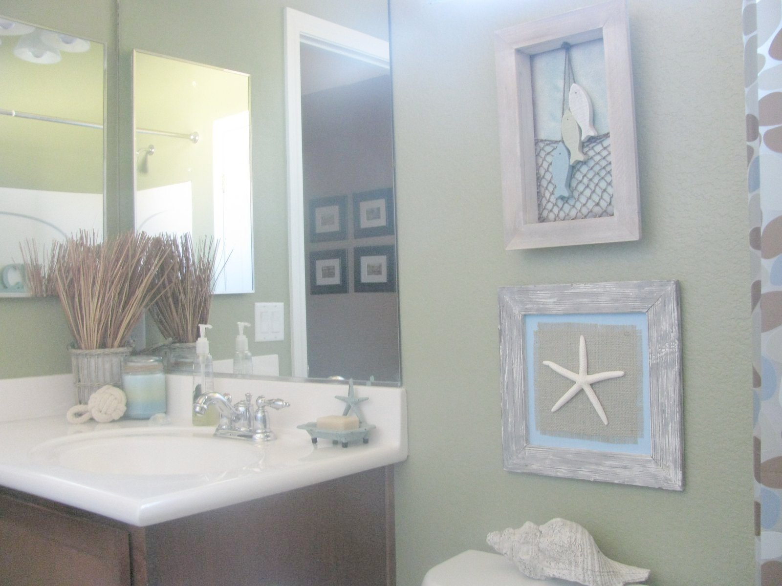 Beach Bathroom Decor Wall Color Bathroom Ideas Pinterest Love This Beachy Lantern Thingy It Looks Like It Was Made Of