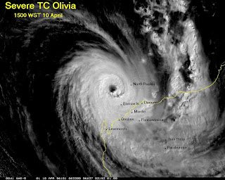 Highest surface wind speed,Tropical Cyclone Olivia sets world record,highest wind speed records