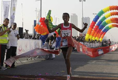 Elvan Abeylegesse breaks RAK Half Marathon world record, Elvan Abeylegesse picture, Elvan Abeylegesse photo 2010, Elvan Abeylegesse images, Elvan Abeylegesse video, RAK Half Marathon world record 2010, RAK Half Marathon 2010, guinness world record 2010, running world record 2010, women's Ras Al Khaimah Half Marathon