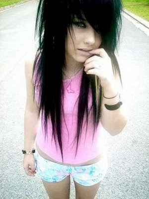 emo hairstyle picture. long hair. emo hairstyles
