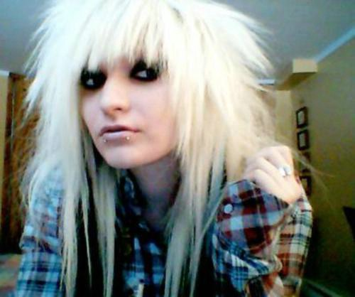 emo hairstyle picture. Long emo hairstyle for white