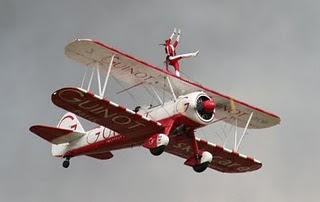 World's greatest wing walker photo, Ashley Battles picture,wing walker dance video