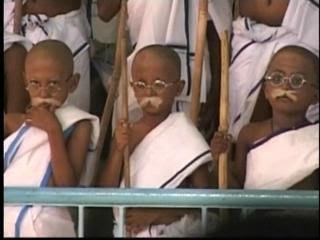 Students Dress as Mahatma Gandhi photo, picture, Limca Book of Record 2010, spread Gandhi's message