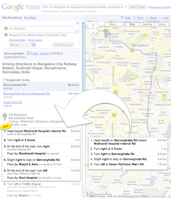 Landmarks in Google Maps Driving Directions