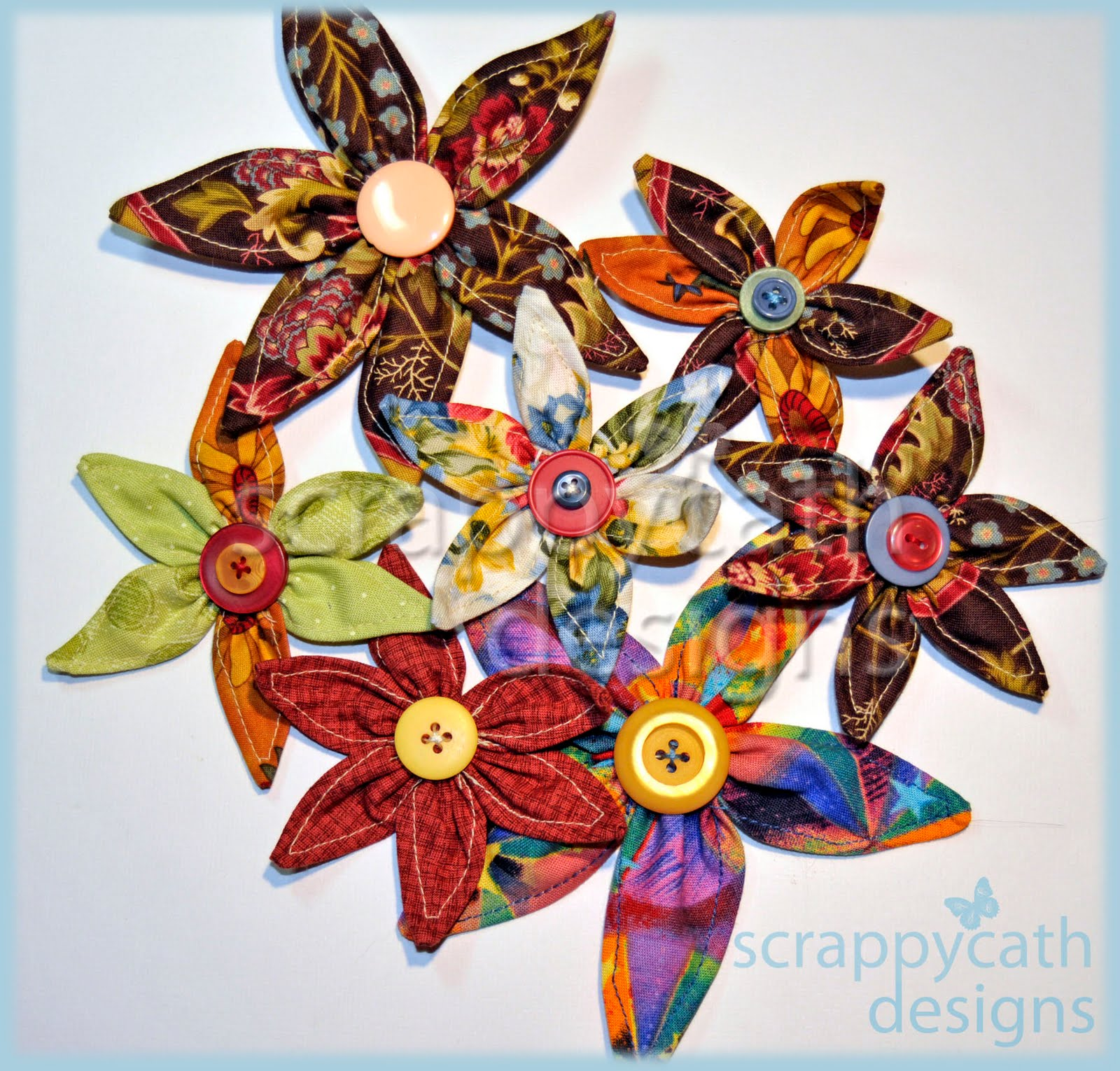 Ideas For Scrapbookers Sew Easy Fabric Flowers