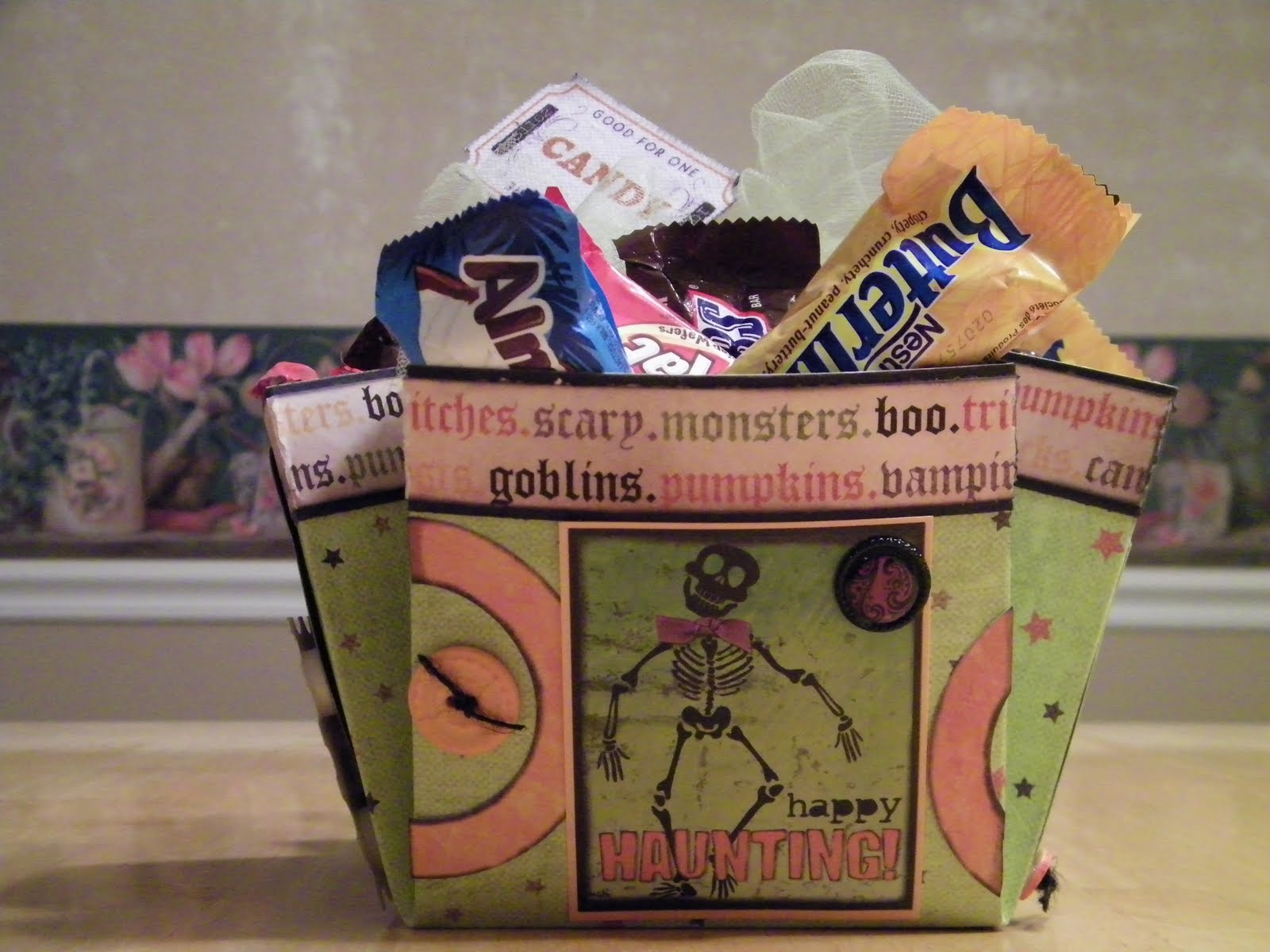 Ideas For Scrapbookers Halloween Candy Box With My Scrapbook Stash