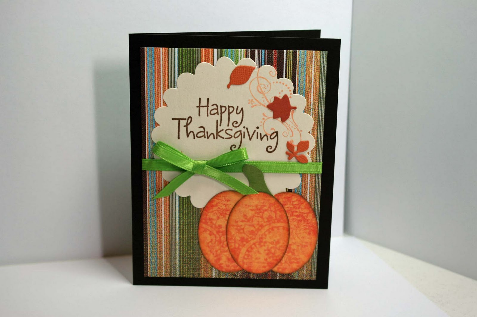 Ideas for scrapbookers thanksgiving card ideas for Handmade thanksgiving decorations