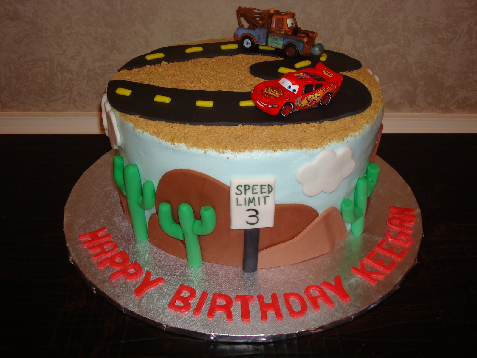 Sweet Melissas Keegans Lightning Mcqueen Cake