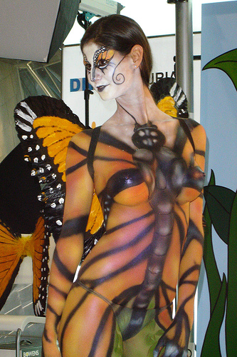 Beautiful Girl Body Painting