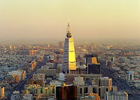 view of the city of Riyadh - see? They're not desert bunnies!