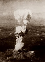 Atomic cloud rising over Hiroshima, August 6, 1945