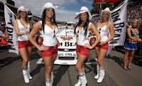 Racing wouldn't be complete without the V8 Girls!