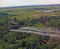 Agent Orange spraying over Mekong Delta, 1969