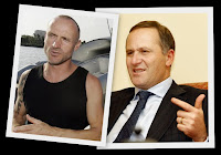 Besmirched eco-warrior Pete Bethune, and leader John Key