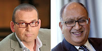 The giggling jackass Paul Henry and retiring NZ Governor-General Sir Anand Satyanand
