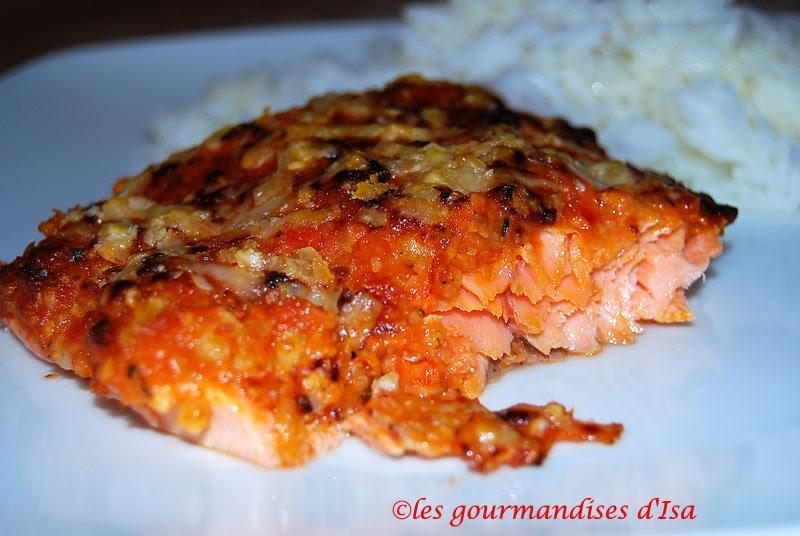 Les gourmandises d 39 isa filet de truite au pesto de tomates s ch es et amandes - Comment cuisiner la truite au four ...