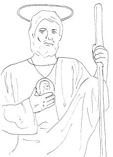 Saints Of October Printouts City Wife Country Life St Jude Coloring Page