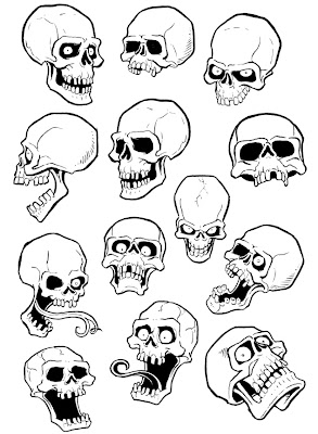 music tattoo designs on KW Monsters Blog of Evil: SKULL TATTOO DESIGNS