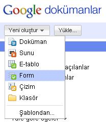 Google Dokumanlar ile iletisim formu olusturun