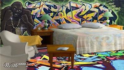 Graffiti Alphabet On Bedroom