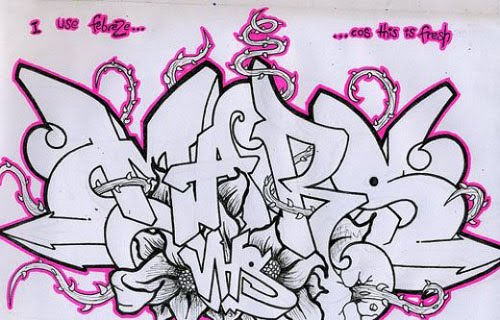 Sketches Graffiti Black Book