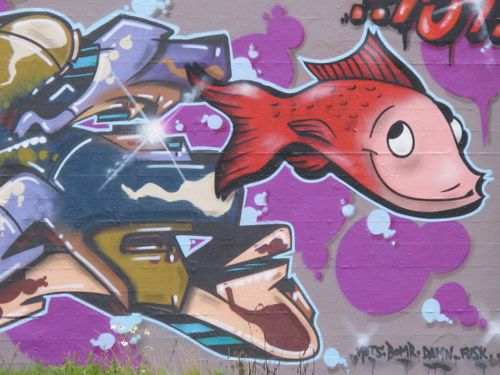Red Fish Graffiti Copenhagen