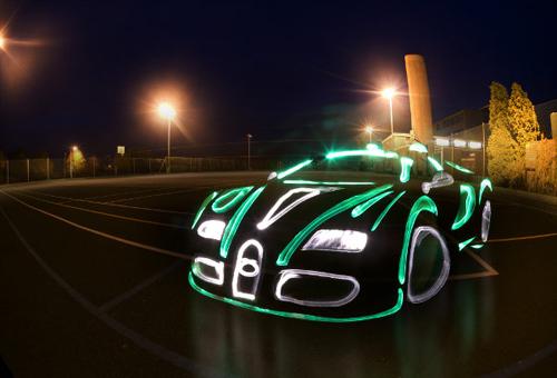 Bugatti Veyron Bentley Light Graffiti