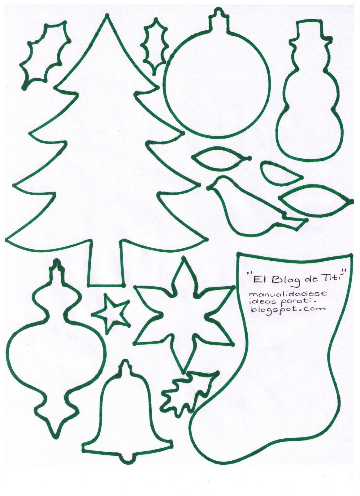 El blog de tit manualidades plantillas con motivos - Motivos navidenos dibujos ...